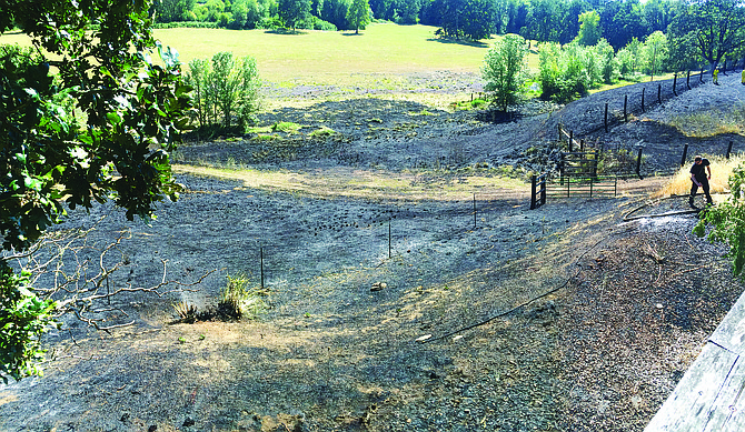 A field fire burned five acres and caused two people to be evacuated on Saturday, but due to a quick response from firefighters, there was no major damages or injuries.