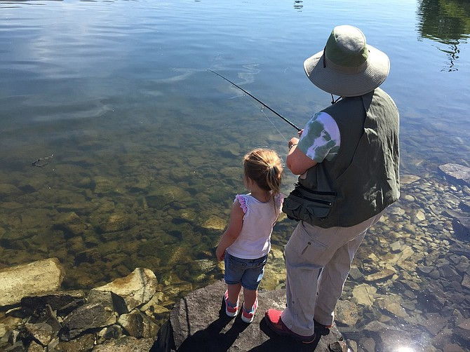 NDI WINNING photo: Jessica Hoffman took this photo of her child fishing with Grandma.