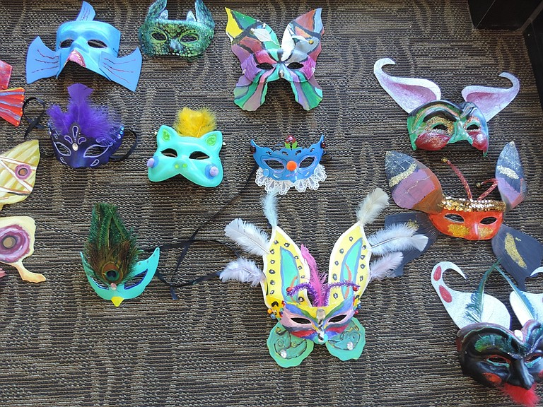 Masks, made by community members, will feature in the upcoming United Way Fall Masquerade.