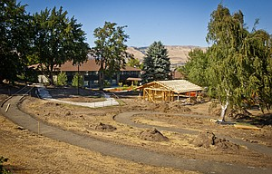 Columbia Basin Care, a community-owned, not-for-profit skilled nursing facility in The Dalles, is improving its outdoor space with the creation of a park-like area with picnic pavilion and wheelchair-friendly pathways. The project is expected to be completed in October.