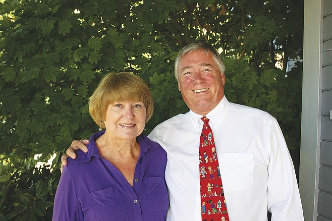 Chris Lillegard, right, and legal assistant Linda Baker will retire from the law firm at the same time.