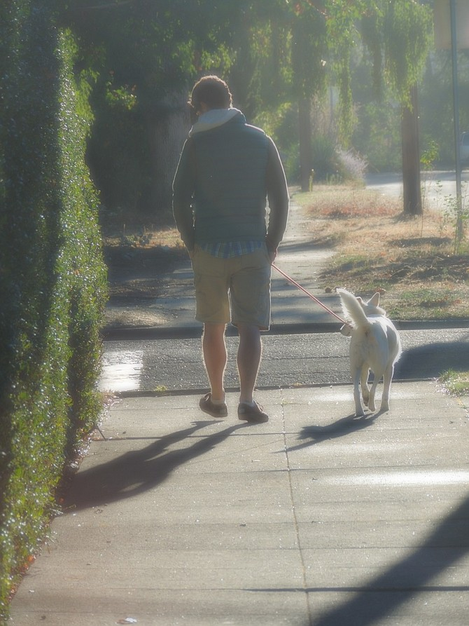 Taking A WALK with a friend is just one key to a happy day.