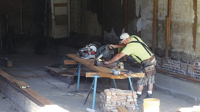 A careful restoration is underway at Taylor's Building.