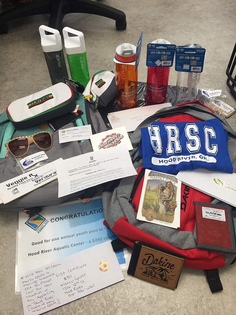 LOCAL businesses donated heavily to support the start of the health center's second year in operation.