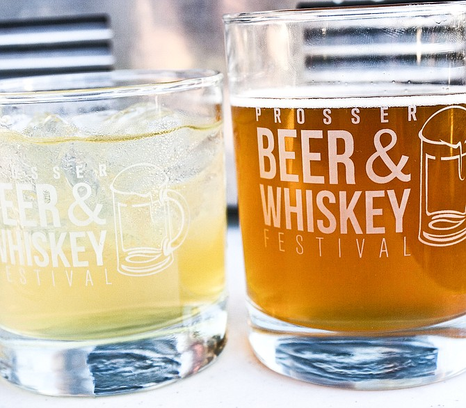 Tickets to the annual Prosser Beer and Whiskey Festival include a choice of logo glasses from which to imbibe.