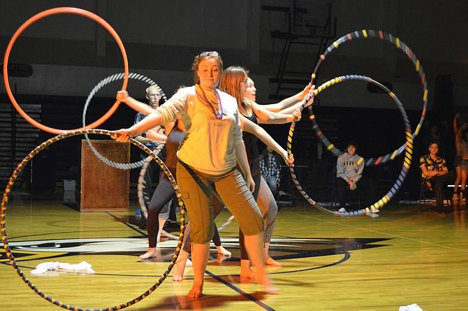 Emma Dexter, Savannah Rogan, Anne Marie Goodman and Jasper Krehbiel portray Rachel Harry's Phoenix Theater students.