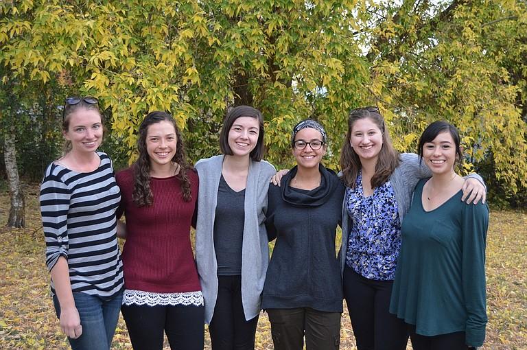 Megan Byrne, Katherine Short, Sara Tiscareño-Kennedy, Alyssa Melendez, Celia Hensey, and Emily Padilla.