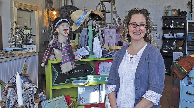 Lisa Cox runs Same as it Never Was in downtown Independence, where one-of-a-kind pieces tempt every shopper.