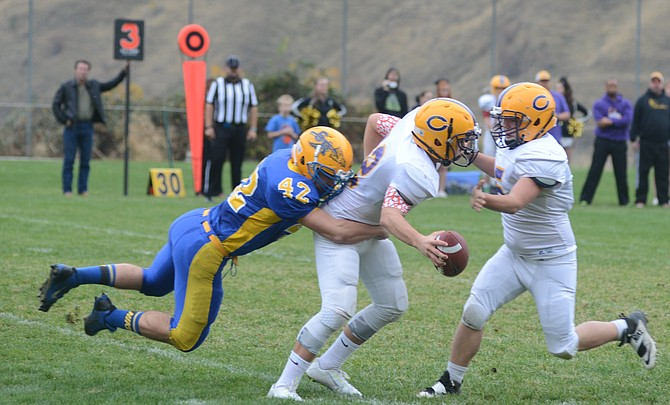 A very long day for Cascade's offense began with Salmon River's Gabe Gonzalez terminating their opening possession with a solo sack.