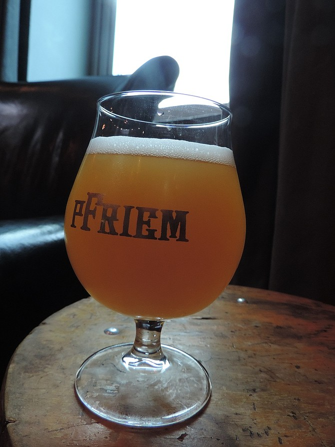 AT PFRIEM: Kumquat Farmhouse Ale, on tap and in bottles.
