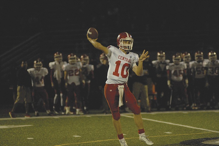 Central quarterback Peter Mendazona threw for 219 yards and four touchdowns against Sandy.