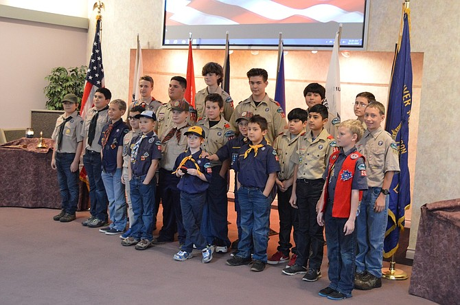 Members of Boy Scout Pack 282 and 392 and Troop 392 helped to honor veterans at the annual Veterans Day ceremony held at Anderson's Tribute Center on Friday, Nov. 11.