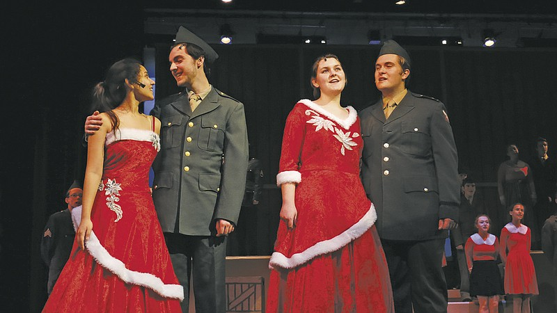 the cast of white christmas rehearses the title track and finale of - White Christmas Play