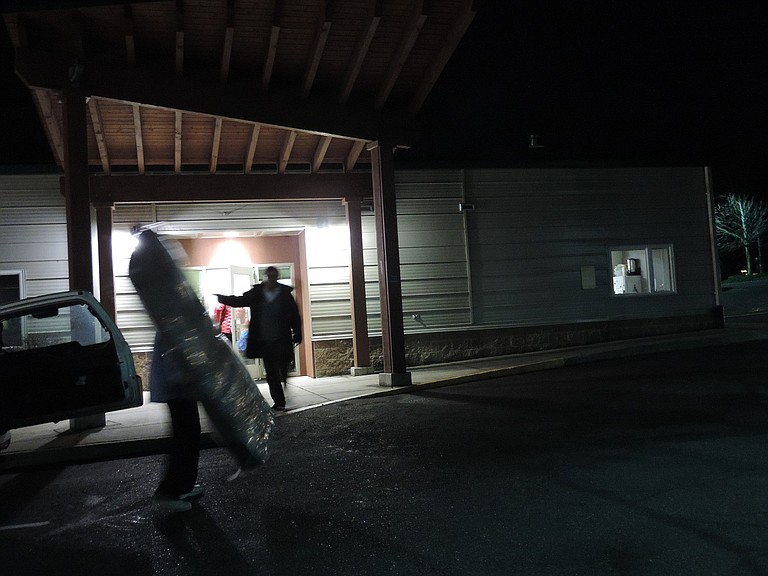 MATTRESSES and other supplies arrive at Mid-Columbia Center for Living on the Heights, one of six locations for the Warming Shelter this season. Shelter Services continues to search for location to house the shelter for the entire season.