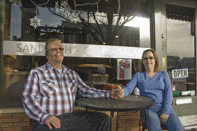 Doug and Renee Pierce, of Dallas, took over ownership at Courtyard Coffeehouse & Deli.