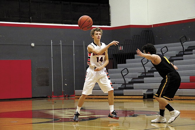 Dallas senior Jason Richey scored 16 points during the Dragons 61-50 victory over Redmond on Dec. 21. Richey scored 18 points against North Eugene on Thursday.