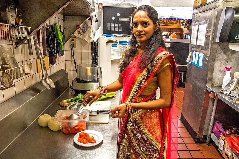 savoring the flavor corvallis cooking class mixes the food  jagruti patel is busy working learning english and adapting to american culture but she