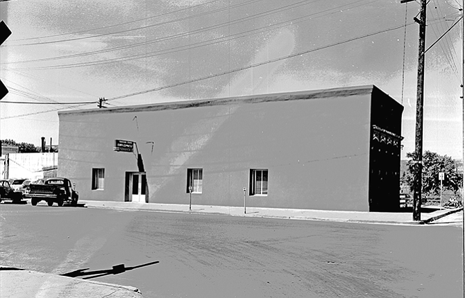"""Terray Harmon, Gary Conley, Tracy Ramsey, Lee Langston, Mike Kilkenney and Lama Tepfer all contributed to this report. Last week's History Mystery, above, was scanned from a 4- by 5-inch back-and-white negative from the archives of The Dalles Chronicle. Information on the envelope reads, """"Oregon Employment Service Bldg., August 16, 1953."""" In addition to the information generally reported in this column, which is typed on the envelope, the photographer in this time period typically recorded technical information regarding exposure and camera settings in pen or pencil as well — in this case, """"f3 — 7 sec."""" In this photograph an additional note reads, """"(wires throw shadow on bldg.)"""" The building is located on First Street, and is currently home to the Baldwin Saloon. Past occupants included a saddleshop called """"Bonney."""" Since the photograph was taken, a door has been added on the right-hand side of the building, Conley noted."""