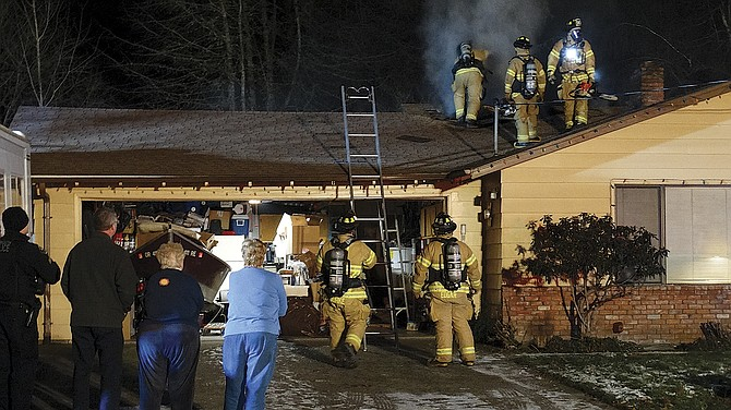 Polk County Fire District No. 1 responded to a fire on Sacre Lane on Thursday.