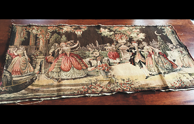 A view of the 19th century tapestry that was returned to owner Melissa Kirchhofer after an appeal was sent out on Facebook for a no-questions-asked return.