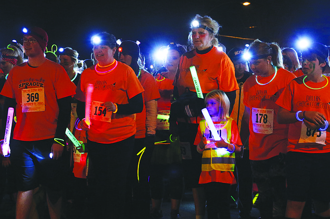 The Glow Run, held in October, attracted more than 500 participants.