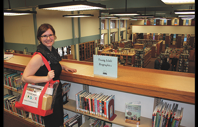 Megan Hoak, teen services coordinator for The Dalles/Wasco County Library, stands on the second floor in the space that will soon be converted into a digital media lab and programming room geared specifically for teens. The project is planned to be completed this summer.
