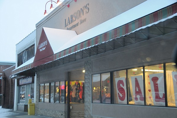 Larson's Department Store in Grangeville recently put up a new awning over its Main Street business.