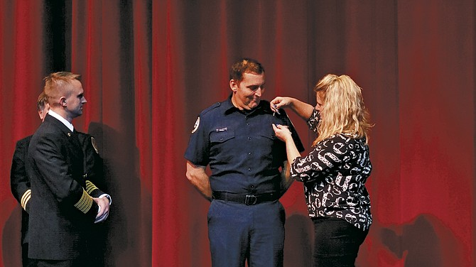 Polk County Fire District No. 1 held a swearing in ceremony at Central High School on Feb. 1.