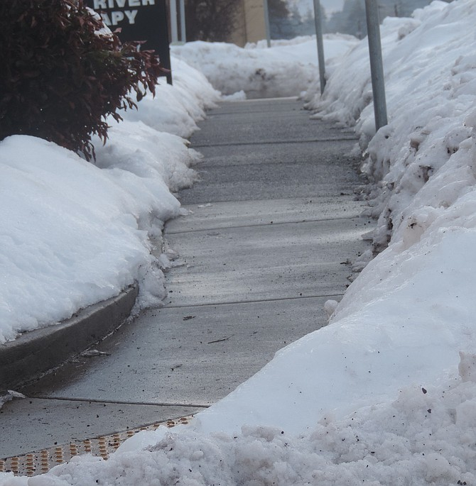 CITY code requires property owners to keep sidewalks clear of ice and snow.