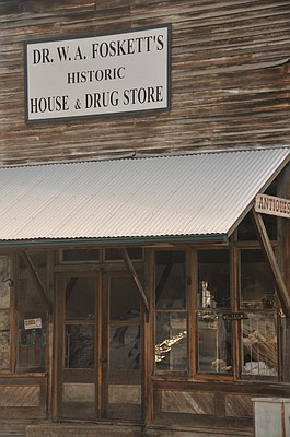 The White Bird Antique Store once was the town's drugstore, owned and operated by Dr. Wilson Foskett, his wife, Loris, and their children, Erna, Lawrence and Andy.