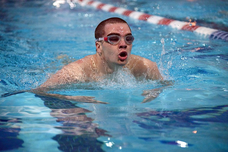 OFF TO STATE: The HRV swim team had a great showing at the Columbia River Conference championships last weekend, winning 17 district titles and sending nine athletes to the state meet this weekend in Gresham. Above, Andrew Rinella.
