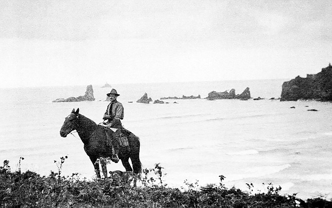 Former Oregon Gov. Oswald West, standing on what is now Ecola State Park, was responsible for keeping Oregon's beaches public. It was also the start of a public highway along the coast, and easier access between coastal towns.