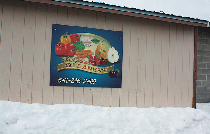 Windy River Gleaners has an attractive and colorful sign on the outside of their building at 3400 Crates Way, but this winter's battles with snow and ice have disrupted the charitable organization's operations.