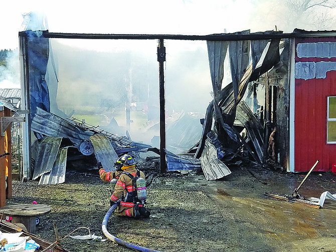 Southwestern Polk, along with Dallas Fire & EMS, Falls City Fire and Amity Fire, responded to a barn fire in the district's coverage area on Feb. 13.