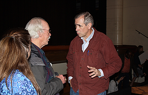 After the town hall session at The Dalles High School, citizens lined up to chat with Merkley one on one and get their questions answered directly. Merkley met with the public at the school for nearly 90 minutes.