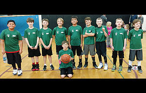 Pictured from left to right, starting in the back row: Marcos Chavez, Landon Olson, George Barnett, Storm McCoy, Keith Moody, Jack Miles, Jason Hull, Jordan Barley and Zack McFaul. Kneeling down in the front row is Nick Packard. Not in the picture are coaches Jim Hull, Jeff McCoy and Gretchen McCoy.