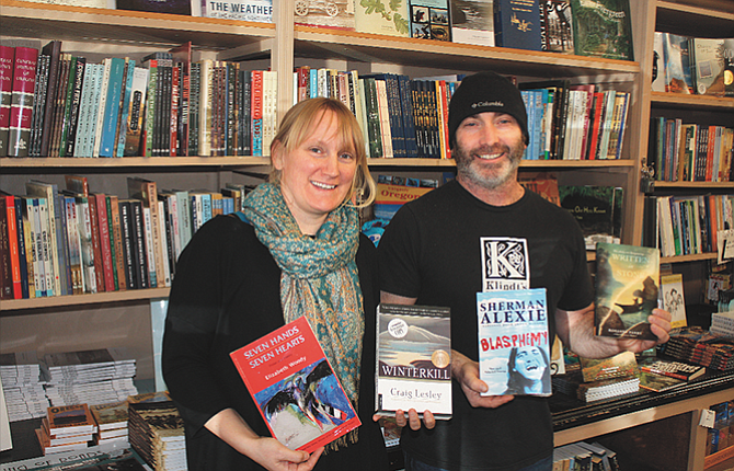 Klindt's Booksellers Manager Tina Ontiveros, left, and owner Joaquin Perez are excited about the upcoming American Indian Cultural Festival, which will bring four Northwest authors to Klindt's in April.