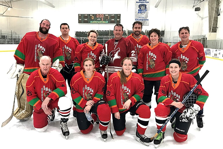 The Omak Attack coed hockey team finished third at 1-1-1 in a one-day tournament jamboree Sunday in Wenatchee.