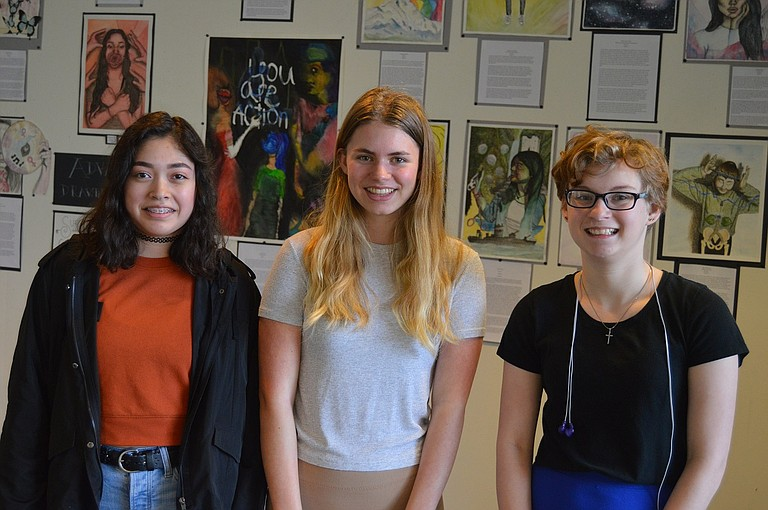 Emma Vega, Allison Thompson and Emily Liri, Hood River Valley High School sophomores, have each won a Gold Medal in the national level of the Scholastic Art Awards — the first time HRVHS has ever received the honor. The trio are fundraising for the awards ceremony, to be held June 8 at Carnegie Hall.