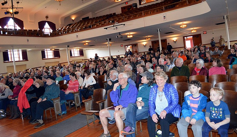 More than 200 people turned out for Sen. Ron Wyden's town hall meeting in Hood River on Saturday. The senator fielded widely varied questions from the public, and focused on the dominant matter of health care legislation.