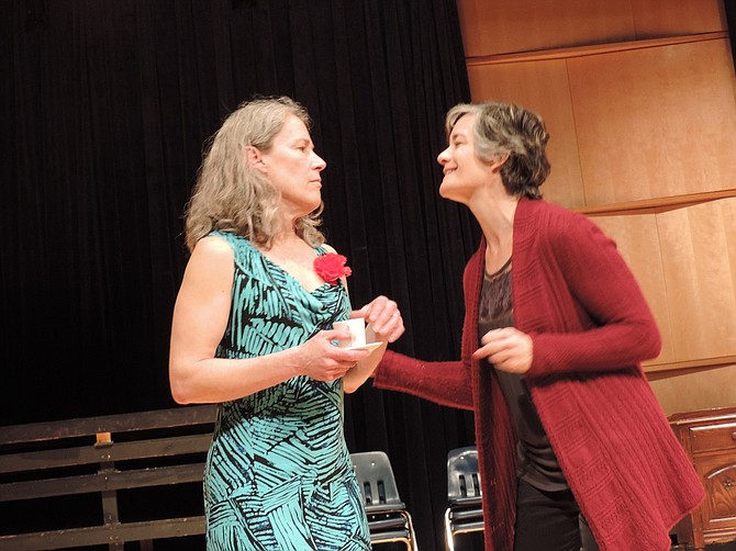 Annie (Kathleen Morrow, left) and Chris (Barb Berry)