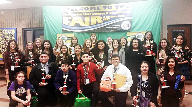 The Sunnyside High School science department was well representative at the winners table at the 2017 Washington State Science and Engineering Fair held in Bremerton.