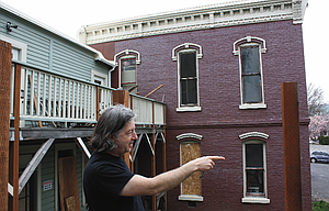 Victor Johnson has a vision for the old Herbring House on Fourth Street that includes residential units and a café.