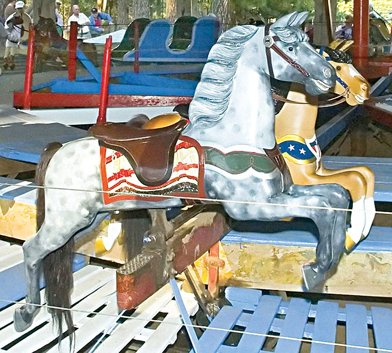 Examples of the early carousel hours are among the exhibits now on display at the Bickleton Carousel Museum, 4 East Market St.