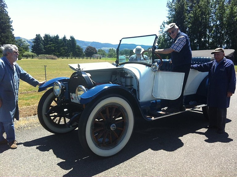 WAAAM volunteer Jack Woolf of Portland, with the 1915 Willys Overland Model 82 touring car he donated in 2016.