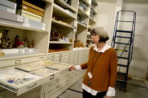 Irene Zenev runs the Benton County Historical Museum in Philomath, and oversees the archiving of thousands and thousands of artifacts preserved from the former OSU Horner Museum, which closed due to budget cuts.