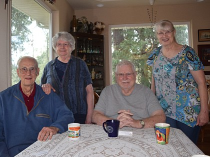 Sherm and Fay Sallee (Left to right), along with Jim and Linda Udell, all took a diabetes prevention class to learn how to better manage their health.