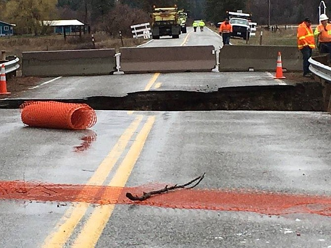 A portion of Highway 21 remains closed south of Republic.