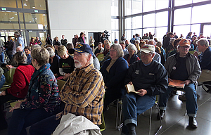 About 500 people gathered at the Fort Dalles Readiness Center inTheDalles for a town hall held by the only Republican in the Oregon delegation.
