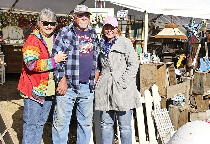 """""""No Rhyme or Reason Flea Market"""" operators, left to right, Edie and Don Allan and Shelleigh Goodwin are venturing into the flea market business with a crowd in mind. """"We are hoping westside antique and craft lovers will seek us out"""" Goodwin said."""